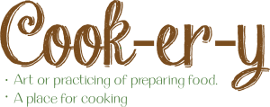 logo for the Cook-er-y catering and commercial kitchen