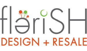 logo for Flerish Design and Resale thrift store.