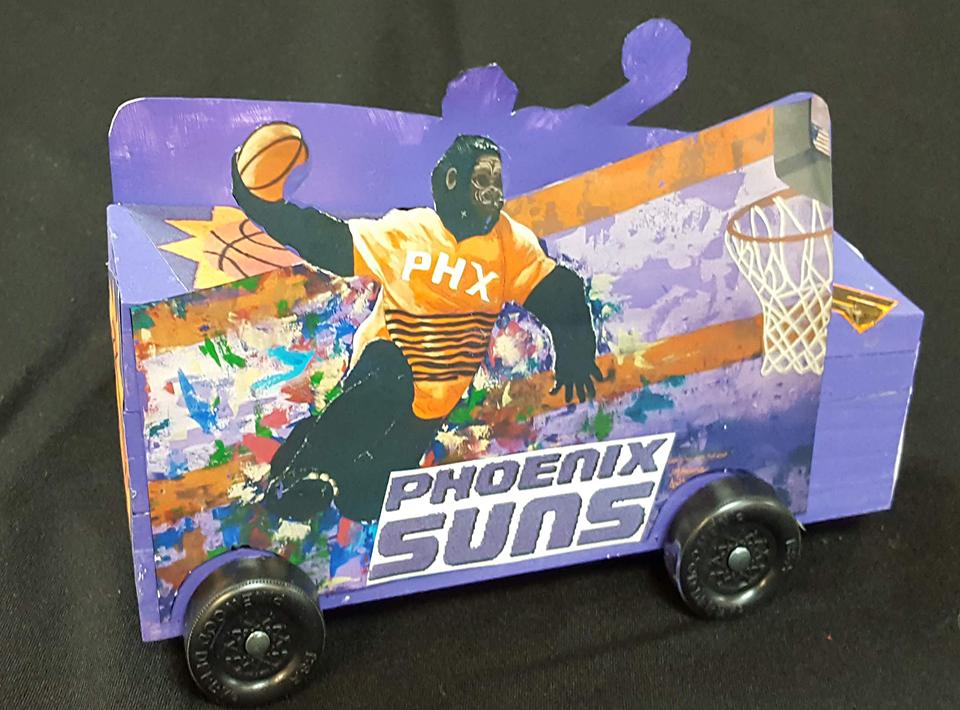 Phoenix Suns race car for Civitan Race Day